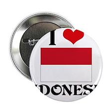 "I HEART INDONESIA FLAG 2.25"" Button"
