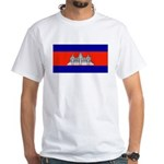 Cambodia Blank Flag White T-Shirt