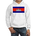 Cambodia Blank Flag Hooded Sweatshirt