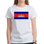 Cambodia Blank Flag Women's T-Shirt