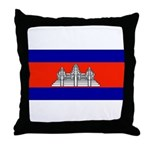 Cambodia Blank Flag Throw Pillow