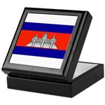 Cambodia Blank Flag Keepsake Box