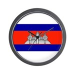 Cambodia Blank Flag Wall Clock