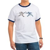 Foil Fencers bout action RingerT-Shirt 1