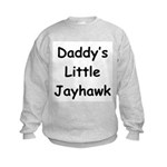Daddy's Little Jayhawk Kids Sweatshirt
