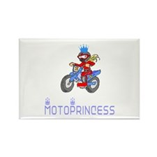 MotoChick Princess Rectangle Magnet