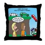 Remote Parking Throw Pillow