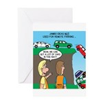 Remote Parking Greeting Card