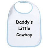 Daddy's Little Cowboy Bib