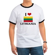 I HEART LITHUANIA FLAG T-Shirt
