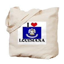 I HEART LOUISIANA FLAG Tote Bag