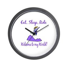 Eat, sleep, ride Wall Clock
