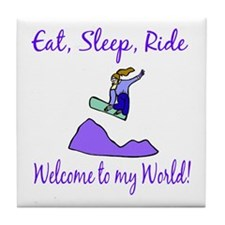 Eat, sleep, ride Tile Coaster