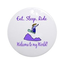 Eat, sleep, ride Ornament (Round)