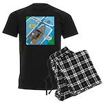 Water Rescue Men's Dark Pajamas