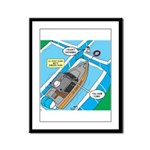 Water Rescue Framed Panel Print