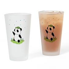 Turtle on a Panda Drinking Glass