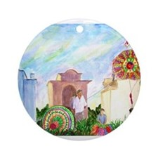 Guatemala Kites Ornament (Round)