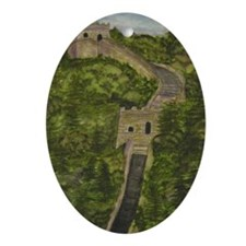 Great Wall of China Oval Ornament