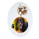 Dachshund Paw Oval Ornament