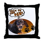 Dachshund Paw Throw Pillow