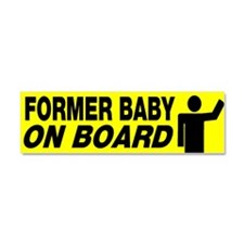 Former Baby On Board Car Magnet 10 x 3