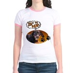 Dachshund Paw Jr. Ringer T-Shirt