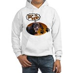 Dachshund Paw Hooded Sweatshirt