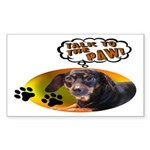 Dachshund Paw Rectangle Sticker