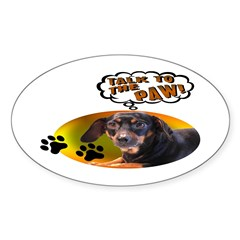 Dachshund Paw Oval Sticker