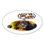 Dachshund Paw Oval Sticker