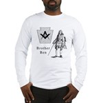 Brother Mason Ben Franklin, abstract Long Sleeve T