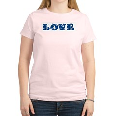 Love Women's Pink T-Shirt