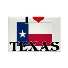 I HEART TEXAS FLAG Rectangle Magnet