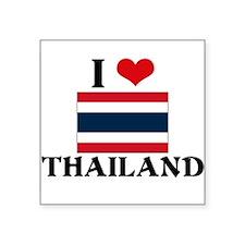 I HEART THAILAND FLAG Sticker