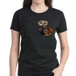 Dachshund Paw Women's Dark T-Shirt