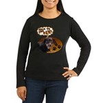 Dachshund Paw Women's Long Sleeve Dark T-Shirt