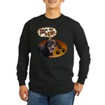 Dachshund Paw Long Sleeve Dark T-Shirt