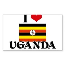 I HEART UGANDA FLAG Decal