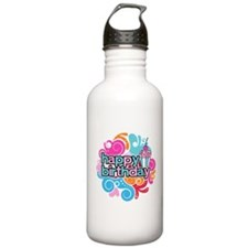 Colorful Happy Birthday Water Bottle