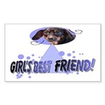 Dachshund Rectangle Sticker