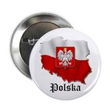 "Poland flag map 2.25"" Button (10 pack)"