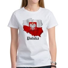 Poland flag map Tee