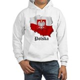 Poland flag map Hoodie Sweatshirt