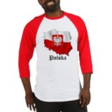 Poland flag map Baseball Jersey