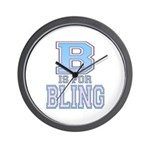 B is for Bling Wall Clock