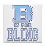 B is for Bling Tile Coaster