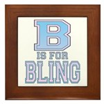 B is for Bling Framed Tile