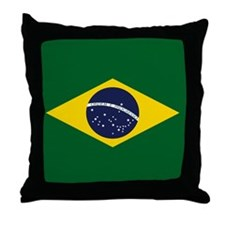 Cute Brasil brasilian brazil brazilian Throw Pillow