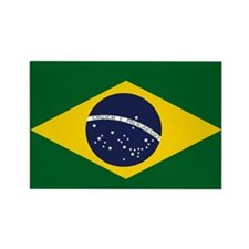 Cute Flag of brazil Rectangle Magnet